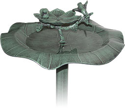 Decorative Resin Birdbath - Alpine